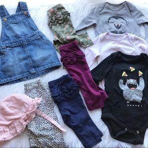 Old navy/ GAP girls clothing bundle 3/6 mo